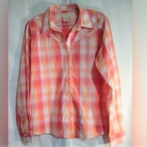 As Real As Wrangler Button Up Shirt Sz L Plaid
